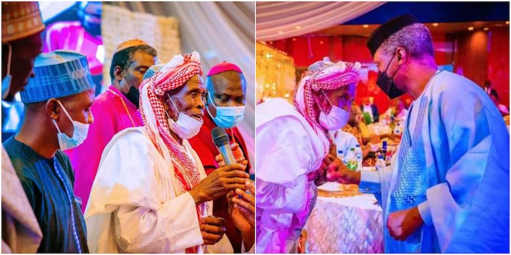 Imam Abdullahi Abubakar and Vice President Yemi Osinbajo