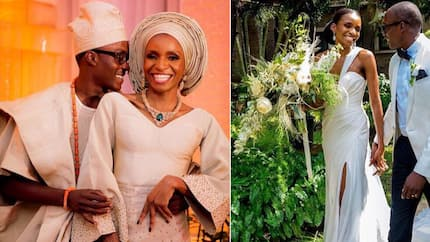 Stunning photos from the Gatsby themed wedding of the son of former Oyo governor to his bride