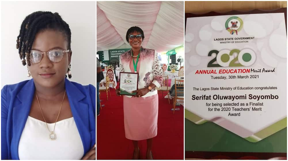There Was no Car: Lady Speaks out after Mum Won Lagos State Teachers' Merit Award, Shares Photo