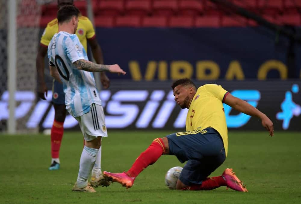 Messi shows commitment to Argentina as photos of him playing on despite bleeding vs Colombia emerges