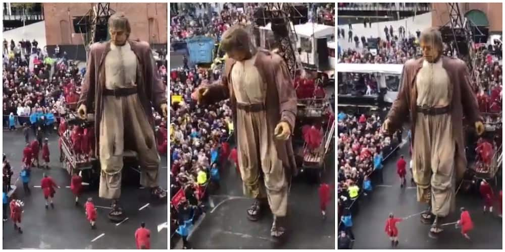 Young Men Show Amazing Teamwork as They Prevent a Giant Puppet from Falling on Crowd, Video Goes Viral