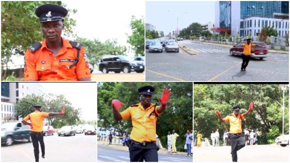 Viral video shows Nigerian policeman dancing as he controls traffic in Abuja, people react