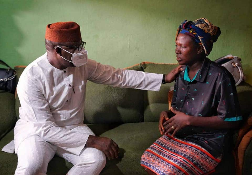 Ekiti governor, Fayemi, pays condolence visit air force officer who died in Abuja plane crash