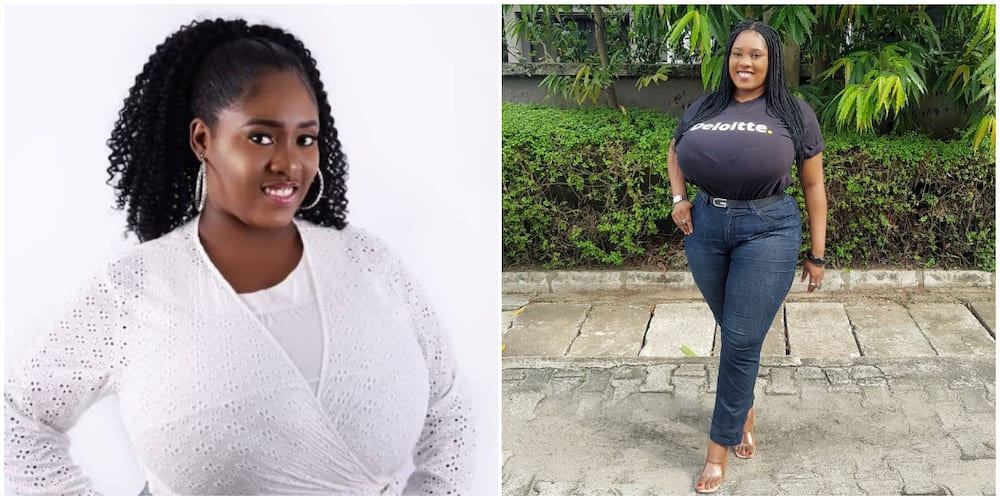 Pretty Nigerian lady finally gets job after months of waiting at home