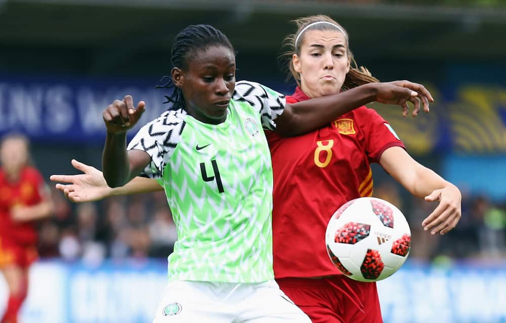 Christy Ucheibe in action for Nigeria