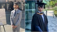 Oyinbo student who graduated from Manchester university wears suit, takes to street with board to beg for job