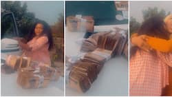 Actress Ruth Kadiri stunned as friend gifts her wads of cash for birthday, shares videos