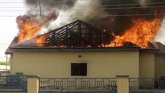 BREAKING: Fear grips Abia as IPOB sets another police station on fire; officers scamper for safety