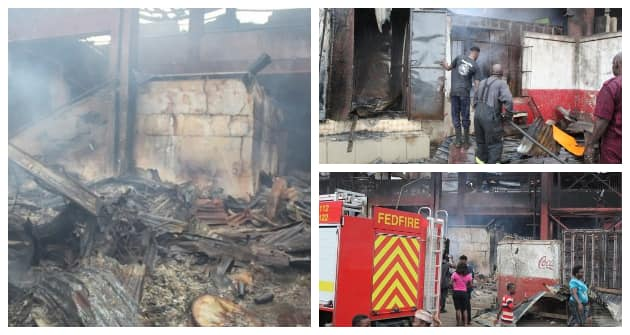 Oba market in Benin city destroyed by fire outbreak