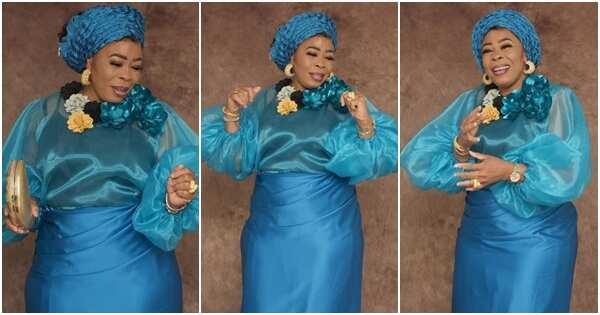 Nollywood actress and singer Mayorkun's mother Toyin Adewale clocks 50