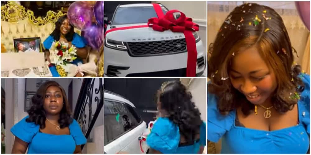 The young woman was gifted a brand new Range Rover