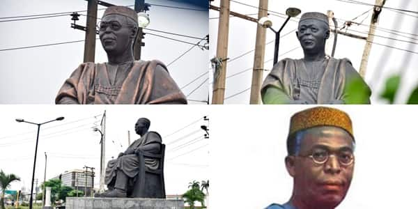 Awolowo's iconic glasses stolen from statue as looting continues in Lagos