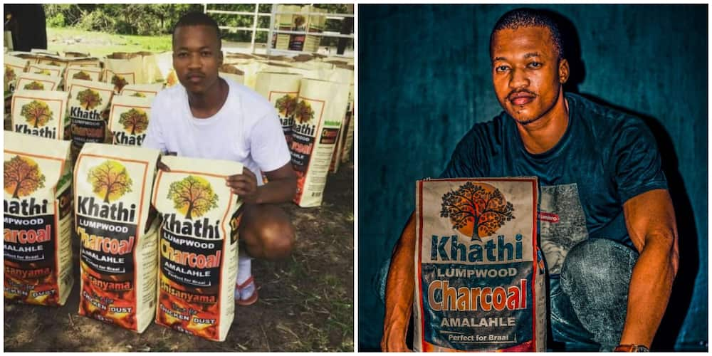 Social Media Reacts as Young Graduate Begins Selling Charcoal, Brands and Packages It