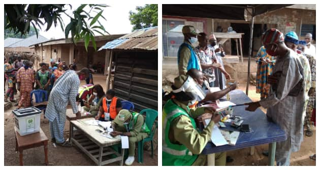 Breaking: INEC Indefinitely Suspends Ekiti East Bye-Election, Shares Photos, Video of Poll
