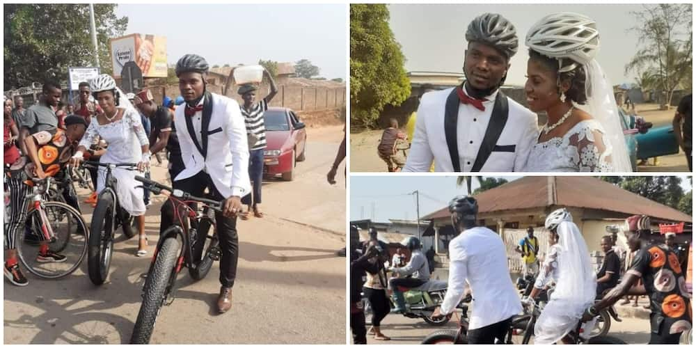 Meet beautiful couple who got married with bicycle