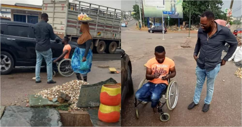 Couple buys physically challenged man a new wheelchair with own money; gives him more cash to look fresh