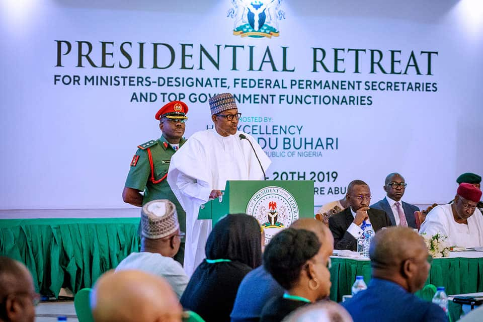 Presidential retreat: Nigerians expect great, quick results from you - Buhari tells incoming ministers