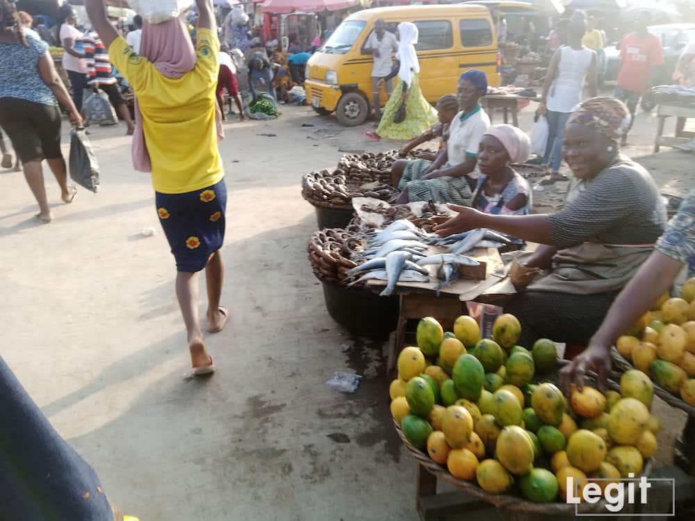 Mango is in its season now but the fresh ones are sold from N200 upwards. Photo credit: Esther Odili