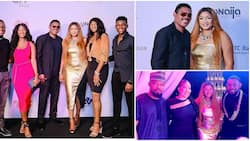 Actress Omotola Jalade-Ekeinde launches movie studio, parties with husband, children and celebrity friends (photos, video)