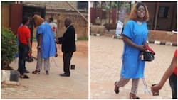 Nigerians react as church reportedly give maternity gowns to ladies dressed improperly (photos)