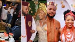 Sandra Ikeji's wedding photos show that the man she married is different from the one she engaged in 2018, Nigerians react