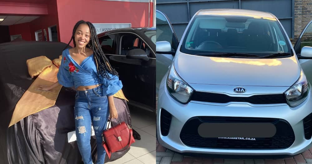 Young Mzansi lady celebrates as parents buy her a fresh set of wheels