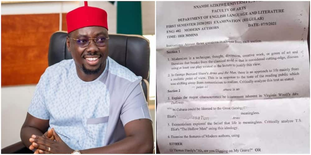Obi Cubana reacts to his name being featured in a recent UNIZIK examination