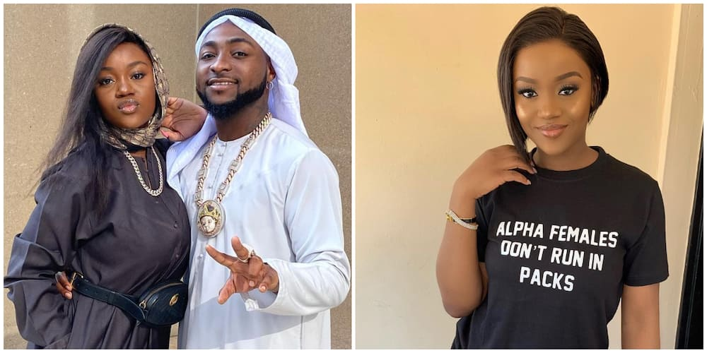 Amid Alleged Strained Relationship, Chioma Pulls Down Davido's Pictures on Her IG Page, Leaves One