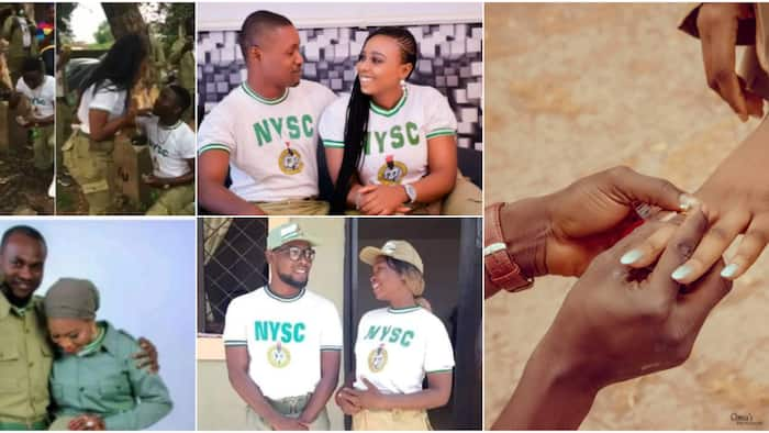 8 corps members who found love and got engaged during NYSC, their cute proposal photos still warming hearts