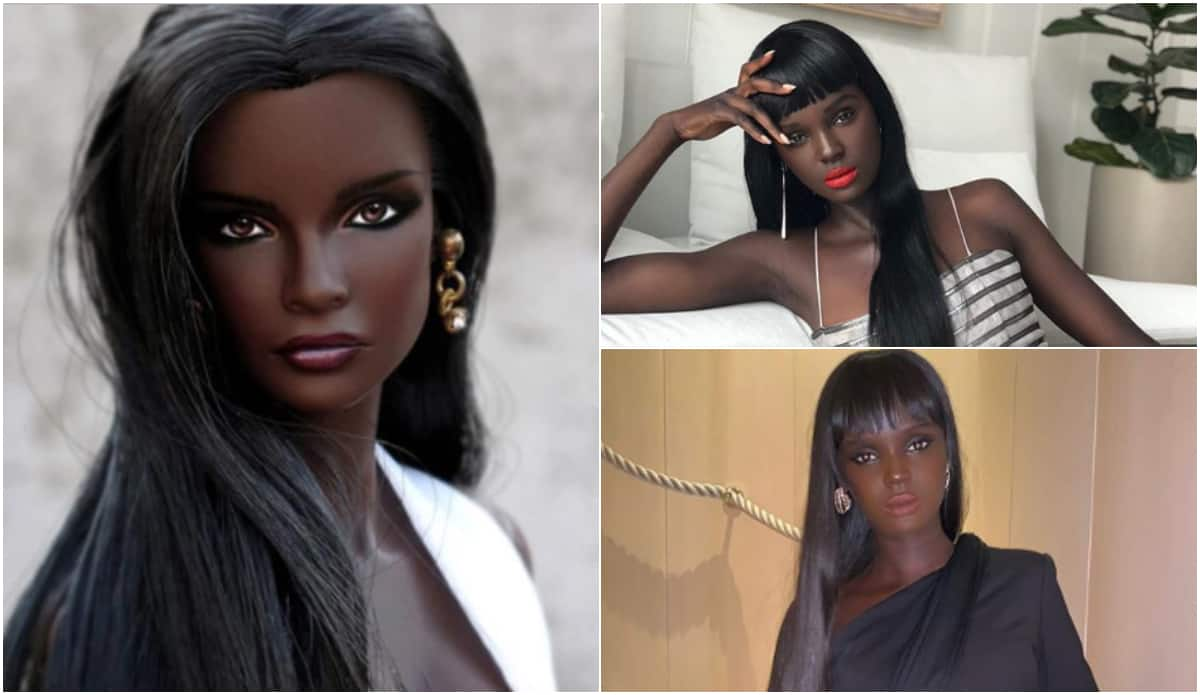 Meet beautiful Australian-Sudanese model who looks like Barbie doll