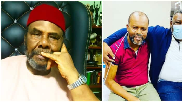 Actor Pete Edochie's son down with COVID-19, says 80% of his lungs were damaged