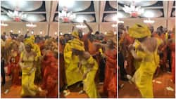 Bride scatters dance floor at her wedding, nobody could match the lady's skill, people keep looking in viral video