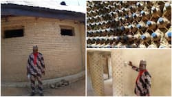 Thinking outside the box! - See the 3-room house this Nigerian man built with 14,800 plastic bottles, social media reacts (photos)