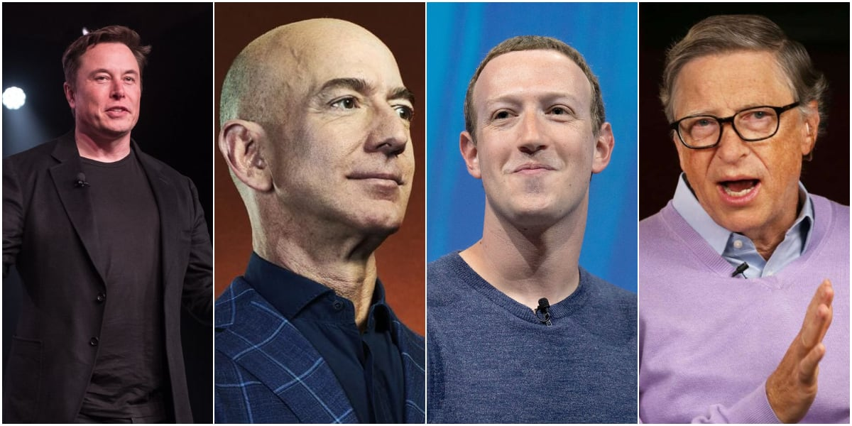 Bezos gains N60 billion as Elon Musk, Bill Gates, Zuckerberg, others lose N5.6tr