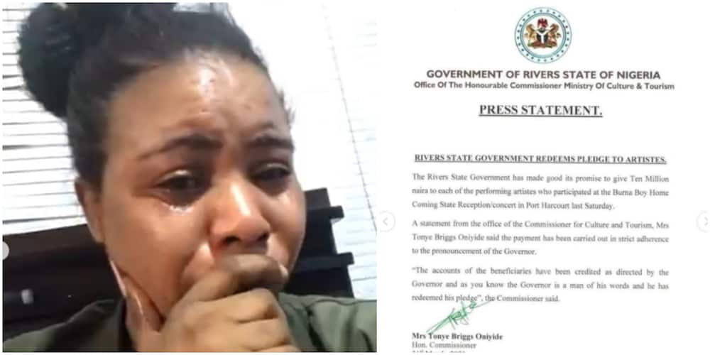 All My Years of Struggle are over: Kessydriz Breaks Down in Tears as Governor Wike Fulfils N10m Pledge