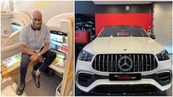 Cut soap for me - Reactions as Nigerian big boy Mompha shows off his news Mercedes Benz in viral photo