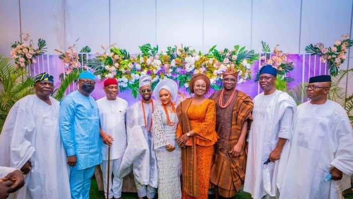 Why my son won't cheat on you - Former governor tells bride on wedding day