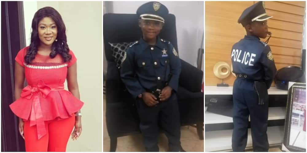Actress Mercy Johnson shares cute video of her son dressed as a police officer