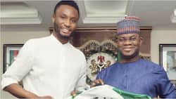 Former Super Eagles captain Mikel Obi visits Nigerian governor ahead of 2023 presidential elections