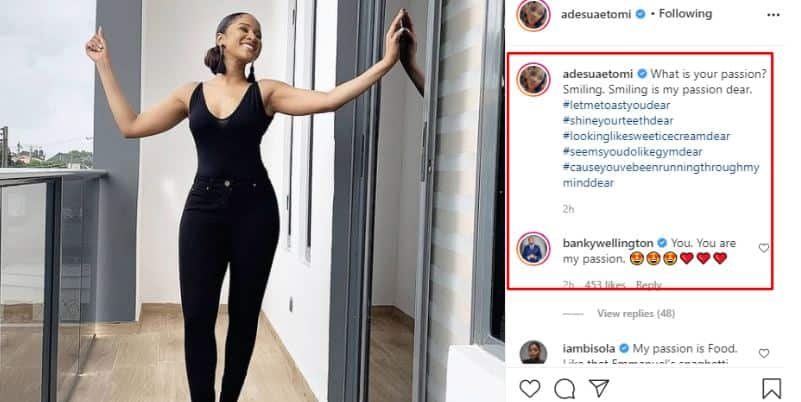 Singer Banky W says his wife Adesua is his passion (photo)