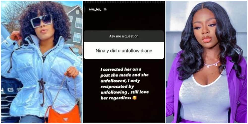 BBNaija's Nina speaks on the friendship turned sour between her and Diane