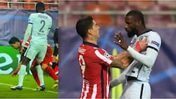 Luis Suarez up to his old tricks after getting away with pinching Antonio Rudiger