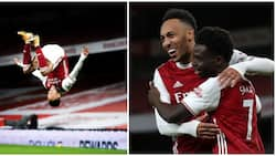 Revealed: Here is the bizarre reason Aubameyang missed out on his first hat-trick of the season for Arsenal