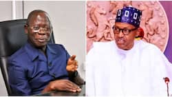 Oshiomhole makes clarification over reported fight with President Buhari