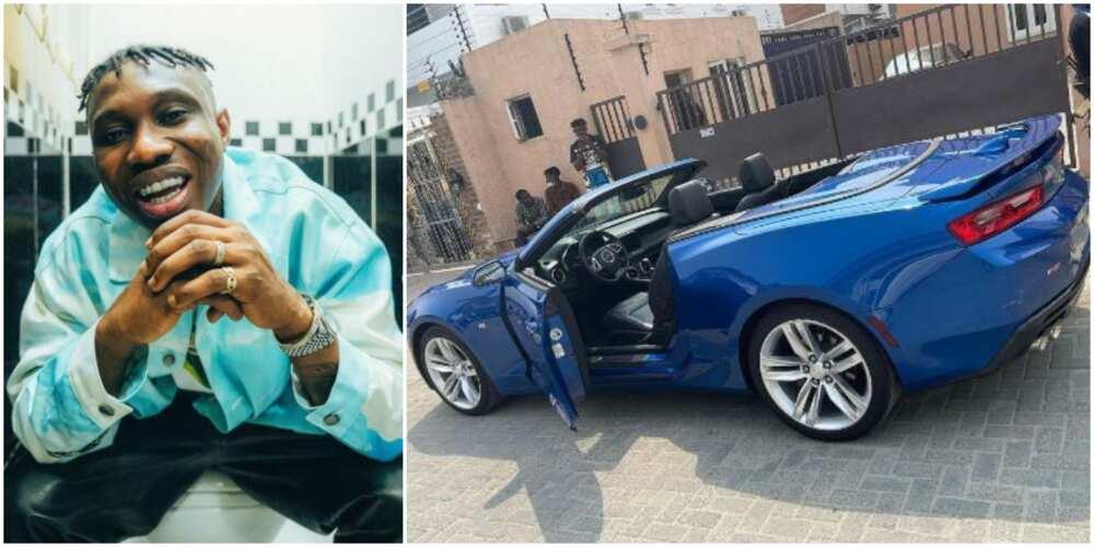 Rapper Zlatan Ibile splurges on sleek new sports car (photos, video)
