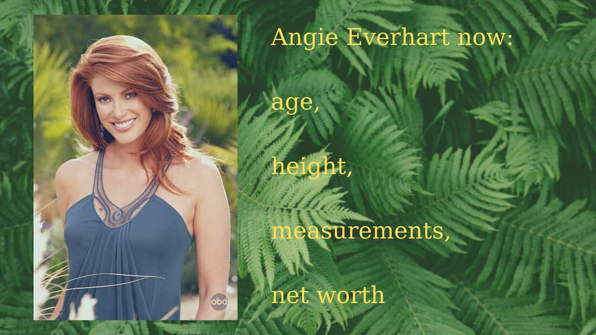 The model and actress Angie Everhart then and now