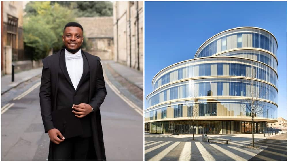 Kingsley proudly said he has officially graduated from the University of Oxford. Photos sources: Getty Images/Hufton+Crow, LinkedIn/Kingsley Ezeani