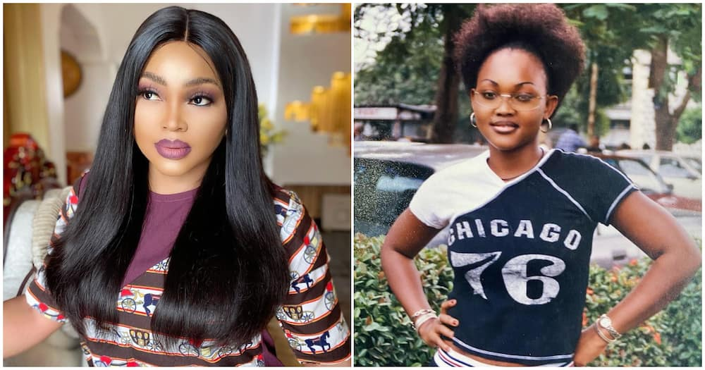Nollywood actress Mercy Aigbe shares throwback picture from 20 years ago, fans react