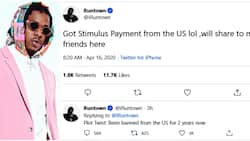 COVID-19: Singer Runtown receives over N360k stimulus payment despite being banned from the US