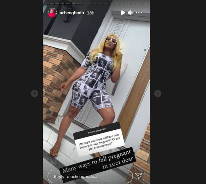 There Are Many Ways to Fall Pregnant: Uche Ogbodo Tells Fan Who Asked Her Celibacy Journey